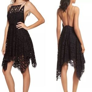 NWT Free People Black Lace Dress Size 6